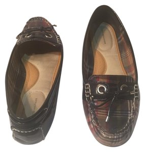 Tommy Hilfiger Like New Plaid Red Blue & Size 8m Red, Navy, Tan Flats