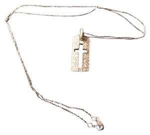 Dillard's Gorgeous sterling silver chain with rhinestone cross