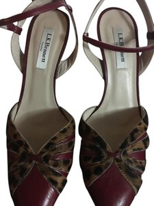 L.K. Bennett red and leopard Pumps