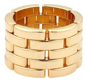 Cartier Cartier Maillon Panthere 18k Yellow Gold 13mm Band Ring Size 50-US 5