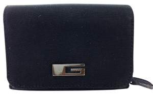 Guess Guess Black Nylon Coin Flap Wallet