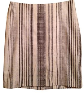 White House | Black Market Skirt Cream color with black stripes