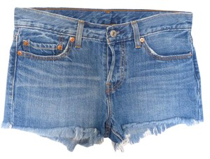 Levi's Fly Distressed Cut Off Shorts Blue