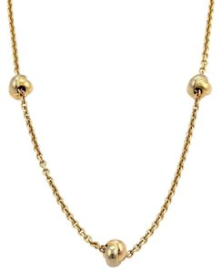 Cartier Cartier 18k Tricolor Gold 5 Love Knot Station Chain Link Necklace Cert