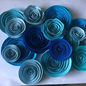 Paper Flowers Shades Of Blue