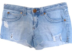 Roxy Distressed Cut Off Shorts Blue