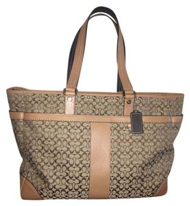 Coach Laptop Canvas Tote in Brown