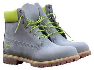 Timberland Grey & Green Boots