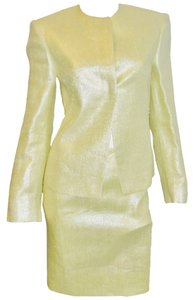 Versace Original Gianni Versace Couture metallic yellow skirt suit Sz 2-4 new with tag