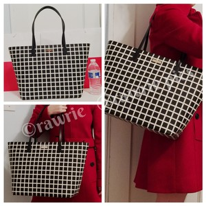 Kate Spade Oversized Large Tote Multifunction Tote Check Two-tone Laptop Bag