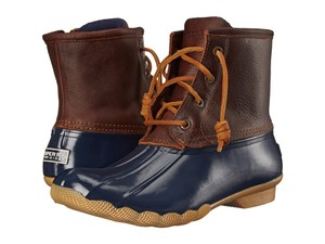 Sperry Duck Youth 3 Navy Blue Boots