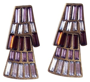 Other antique gold purple earrings