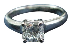 Tiffany & Co. Tiffany & Co PLAT Lucida Diamond Engagement Ring D-VVS2 .87CT