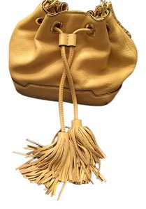 Rebecca Minkoff Leather Gold Hardware Chain Crossbody Shoulder Bag
