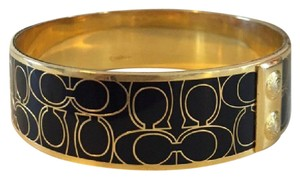 Coach Coach gold and black bangle