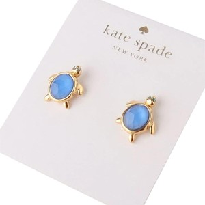 Kate Spade NWT KATE SPADE 12K Gold Plated Paradise Found Turtle Stud Earrings