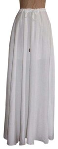 Guess By Marciano Summer Rayon Waist String Maxi Skirt WHITE