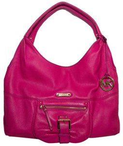Michael Kors Mk Soft Leather Handbag Fulton Hobo Bag
