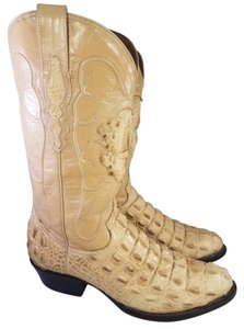 rodeo max Mexican Crocodile Western Cowboy beige Boots