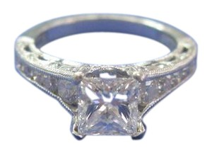 Tacori TACORI Platinum Princess Cut Diamond Engagement Ring PT950 H-VS2