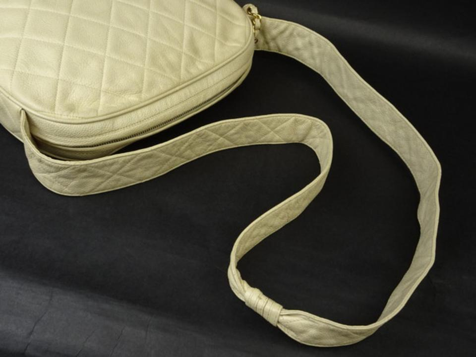af91778d7957 Chanel Messenger Camera Quilted Caviar 216073 Ivory Leather Cross Body Bag  - Tradesy