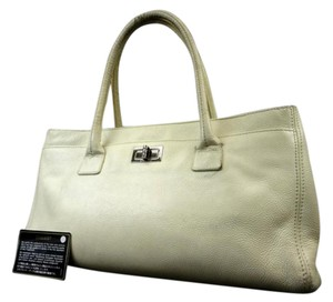 Chanel Cerf Serf Reissue Executive Tote in White