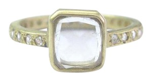 Me & Ro Me and Ro 18K Gold Portrait Cut with DI Pave Band 2.02Ct Sz 6.5