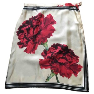Paul Smith Silk Floral Carnation Skirt Multi