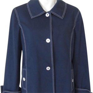 St. John Large Nautical Cotton Navy with white stitching Jacket