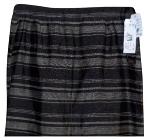 Jones New York Skirt Gray & Black