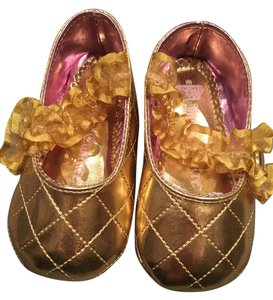 Juicy Couture Round Toe Ballerina Slippers Baby Kids Gold Flats