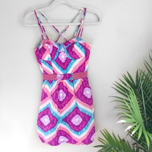American Eagle Outfitters short dress Pink Blue on Tradesy