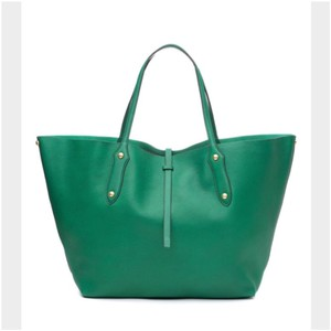 Annabel Ingall Australia Isabella Leather Tote in green emerald