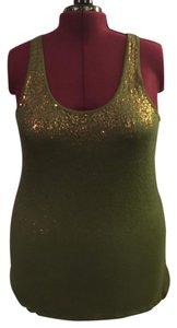 Old Navy Top Green & Copper