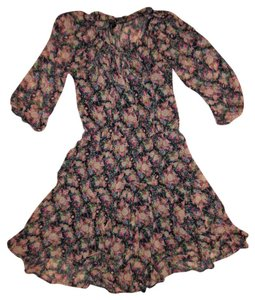 Love Haight short dress Blue, Pink, Ivory, Green Lining 3/4 Sleeves Peasant Flowy on Tradesy