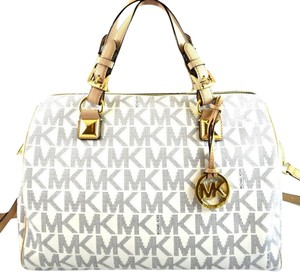 Michael Kors Satchel in White/Navy