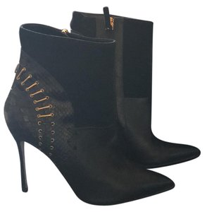 Sergio Rossi black with god hardware Boots