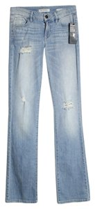 Guess Mid-rise Tailored Denim Boot Cut Jeans-Light Wash
