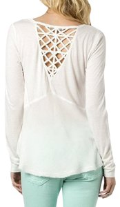 Miss Me Long Sleeve Knit Stretchy Top Off-White