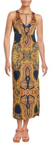 Multi-color Maxi Dress by Free People Knit Sleeveless Print Stretchy