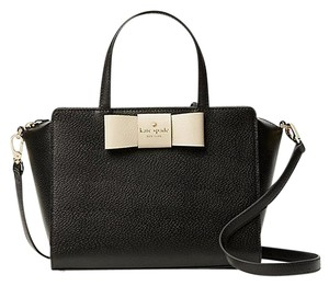 Kate Spade Bow Camplin Satchel in Black