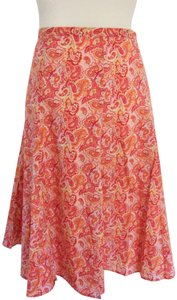 Villager Skirt Coral Paisley