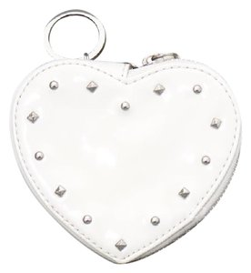 Coach Ivory Liquid Gloss Heart Coin Pouch w/ Tags