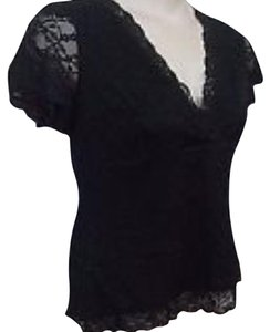 Ann Taylor Lace Top Black