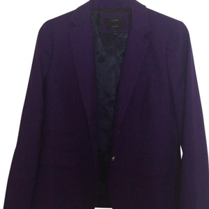 J.Crew bright purple with gold buttons Blazer