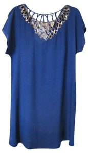 BCBGMAXAZRIA Above The Knee Sequins Cut-out Dress