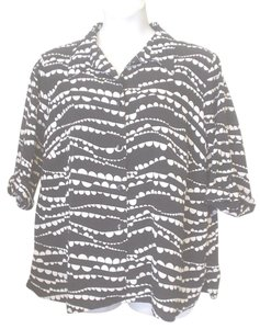 George Mock Twin Twofer Abstract Top Black White