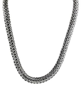 John Hardy John Hardy Sterling Silver & 18K Gold Large Woven Chain Necklace