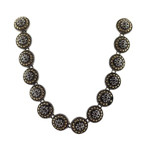 John Hardy John Hardy Sterling Silver and Yellow Gold Round Link Necklace