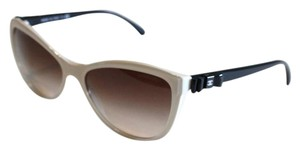 Chanel Beige & Black Patent Bow Sunglasses 5281